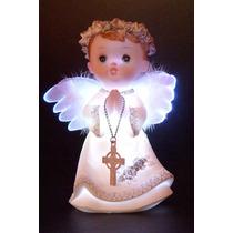 Angel Angeles Con Luz Nacimiento Bautismo Comunion Souvenir