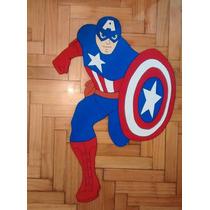 Capitán América En Goma Eva 80 Cm. Cualquier Personaje!!