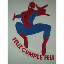 Cartel Cumpleaños - Spiderman H. Araña - Goma Eva 58 X 36 Cm