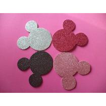 Minnie Mickey Goma Eva, Figura Apliques, Cumpleaños, Mediano