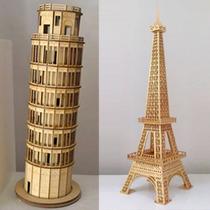 Torre Eiffel 64cm, Torre De Pisa 44cm Mdf, Medidas A Pedido.