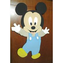 Figura Mickey Bebé En Goma Eva Para Pared