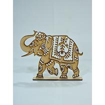 8 Elefantes Calados Fibrofacil Mdf. Cortado A Laser. Combos