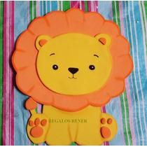Animales De La Selva. 12 Figuras. En Goma Eva 20 Cm