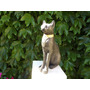 Gato Egipcio De Yeso Pintado A Mano