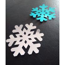 Figuras Caladas Troqueladas Copos De Nieve Metalizadas
