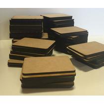 Cortes Rectangulares Fibrofacil 3mm Souvenir 6x8 100 Unid.