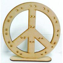 Símbolo De Paz, Porta Aros .pack X4 Unid. 20cm Altura.
