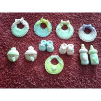 Baby Shower, Nacimiento, Animalitos 10 Apliques Porcelana