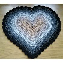 Alfombritas Corazón Tejidas A Crochet