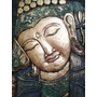 Deco Indonesia- Cuadro Buda, Talla En Madera - 40 Cm.