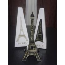 Adorno Souvenil Torre Eiffel Metal - 18 Cm