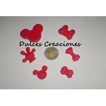 Apliques Mickey Minnie En Porcelana Fria X 10 Unidades