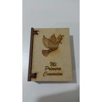 Souvenir Comunion Biblia Cajita Porta Denario Y Estampitas