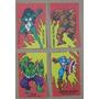 Lote De 4 Stickers Tipo Chocolate Bariloche Marvel Años 80´s