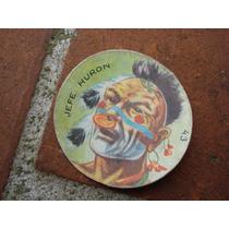 Antigua Figurita Del Album Totem 1965-n.43 Jefe Huron
