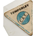 Figurita-futbol- Temperley Mini Futbol - Año 1972 Escudo