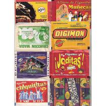 Lote Oferta : 30 Paquetes Figuritas + 6 Albumes + 2 Tapas