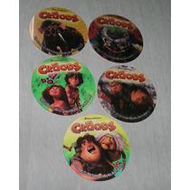 Coleccion 5 Tazos Los Croods Oreo Galletitas Terrabusi
