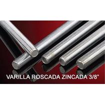 6 Varillas Roscada Zincada 3/8 P/exequielbom1