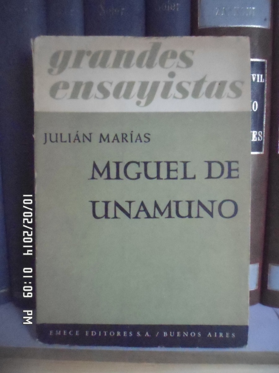 Miguel de Unamuno julian marias