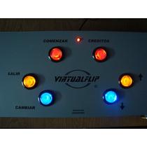 Control Para Videopinballs, Virtualflip, Botones Luminosos