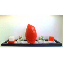 Bandeja+piedras+plantas+portavela+vela+florero. Lakshmideco