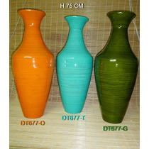 Florero De Bamboo 75 Cm Importado
