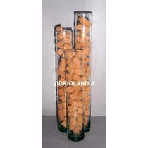 3 Probeta De 23cm,cilindro, Tubo De Vidrio, Para Decoracion