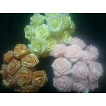 Flores Artificiales Tela (x72fls) Rositas Rococo Tornasol