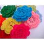 Flores Al Crochet Iv (pack De 10 Unidades)