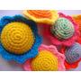 Girasoles Tejidos Al Crochet (pack De 3 Unidades)