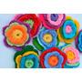 Flores Crochet 4 Colores (pack De 5 Unidades)