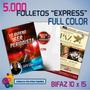 Folletos Full Color X 5.000 Offset Entrega Express 10 X 15cm