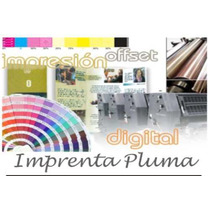 Imprenta Pluma 1000 Volantes Folletos 11x17 B/n En 48 Hs