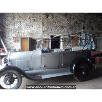Ford A Año 28 Restaurado Original Sin Capota Y Tapizado Tpea