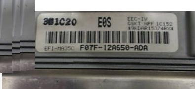 Ford Ranger 2.3 Mt Ecu F07f-12a650-ada E0s 1990 1991