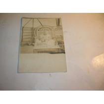 Antigua Fotografia Bebe 1914 Cubierta Barco Sillon Mimbre