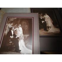 Antigua 1900 -2 Retrat.originales Casamiento-foto 17x23cm Ap