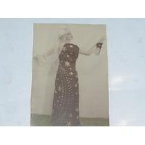 Antigua Fotografia Mujer Disfraz Carnaval Regional Gitana