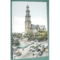 Postal Fotografia Automoviles Amsterdam Camiones Colectivos