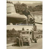 Fv20 Lote X 2 Foto Camion C1940 Buenos Aires Transporte