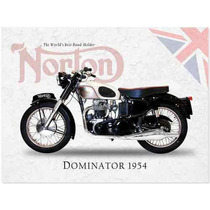Poster Moto Norton Carteles Antiguo Chapa 60x40cm Mot-004