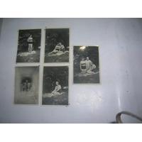 Antigua Foto Tarjeta Postal Mujeres Traje Baño Caballero1932