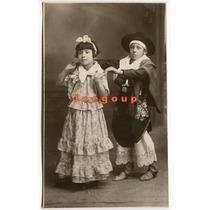 Foto Postal Niños Con Disfraz De Gaucho Y Paisana 1931