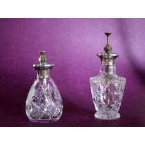 Antiguos Perfumeros De Cristal Y Plata - Mappin & Webb