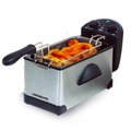 Freidora Electrica Coolbrand 3lts Acero Inoxidable 2200w