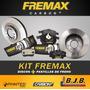 Kit 2 Discos + Pastillas Freno Fremax Gol Trend Hasta 2010