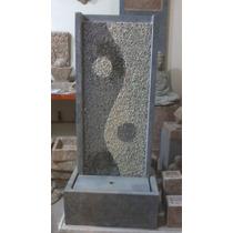 Fuente Muro De Agua Ying-yang 1,40m Cemento