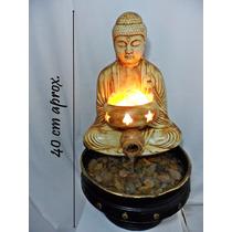 Fuente De Agua Feng Shui Buda + Lámpara De Sal Artenora